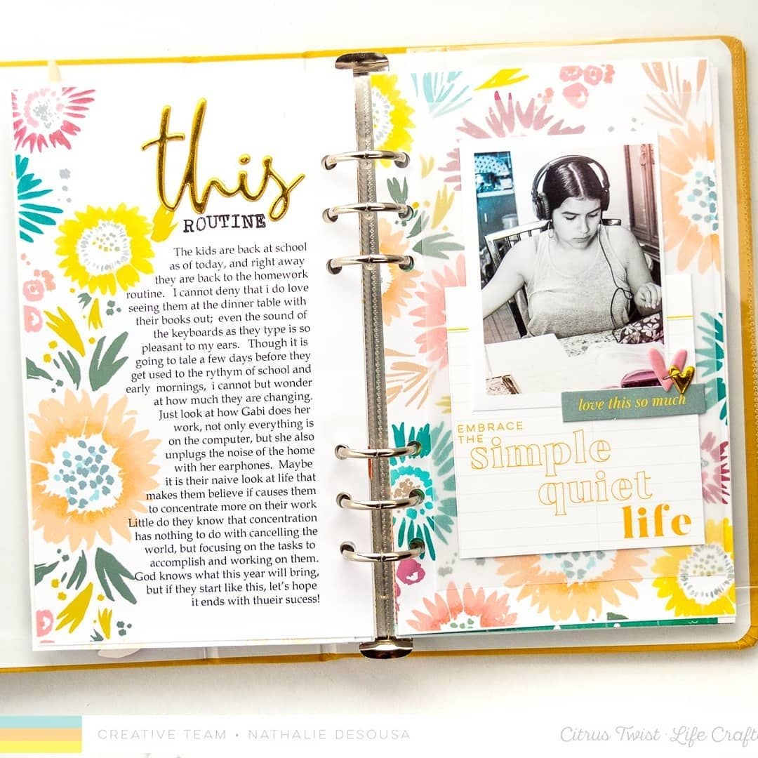 Today I am up on the @citrustwistkits blog with a few pages all about my love for Hybrid Scrapbooking 💕💕 I used the physical and some of the digital files from the AT MY TABLE Life Crafted kit.  Stop by to see how it all came together -there is a link in my profile 😘. .