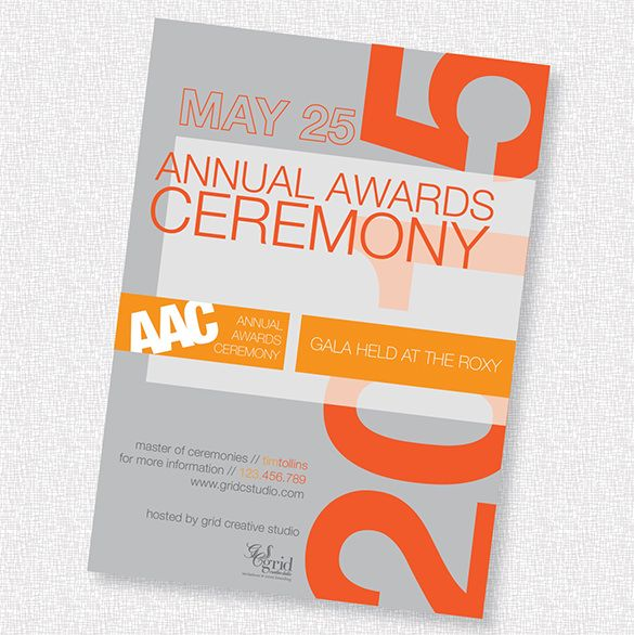 Glorious Award Ceremony Invitation Templates  Free  Premium