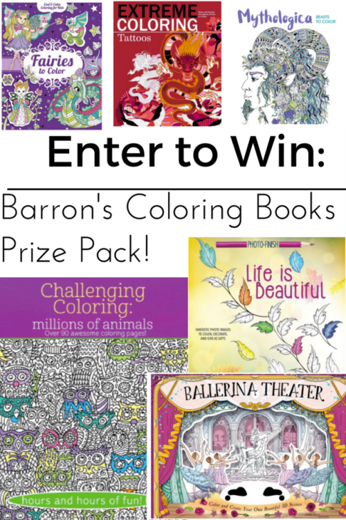Barrons Coloring Books For Adults Kids Prize Pack Giveaway