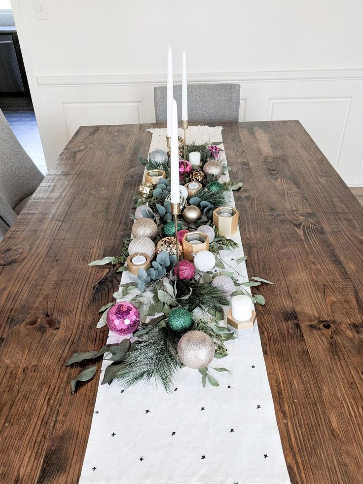 Merry and Bright Dining Table Decor - arinsolangeathome