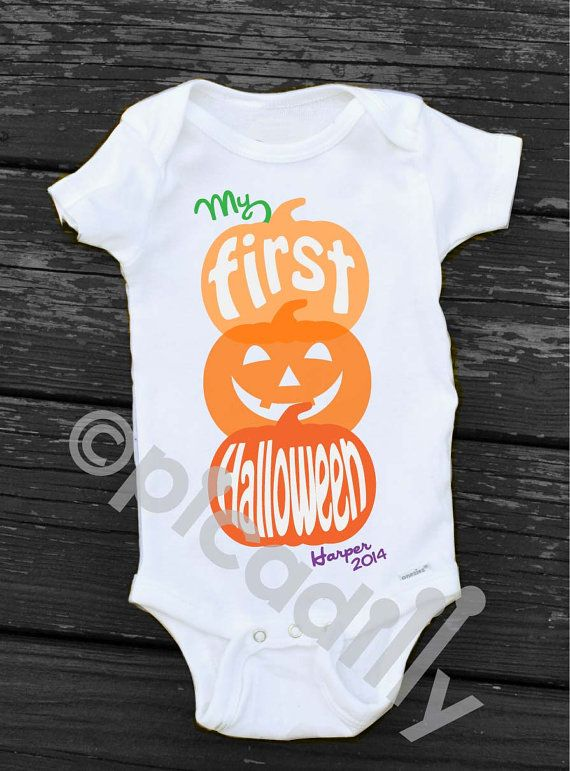 Coltons First Halloween 2020 Svg Boy My First HALLOWEEN Bodysuit Personalized Newborn Halloween | Etsy