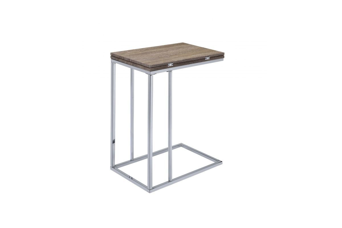 Danson Side Table In Natural By Acme Table Weathered Oak Furniture