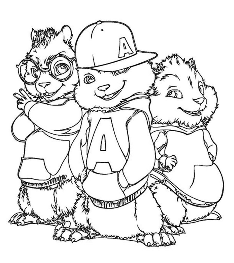Top 25 Free Printable Alvin And The Chipmunks Coloring Pages Online In 2020 Alvin And The Chipmunks Coloring Books Coloring Pages