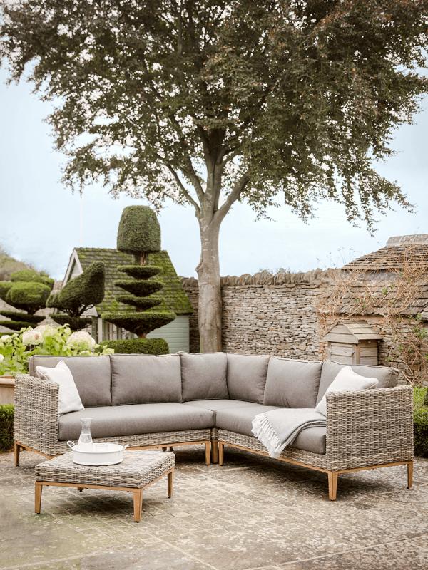 New Florence Corner Set Garden Lounge Sets Sofas Chairs Outdoor Garden Furniture Outdoor Living Garden Sofa Set Corner Sofa Set Rattan Corner Sofa