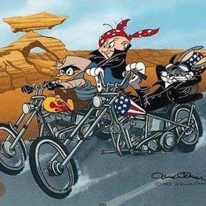 Biker Stuff Looney Tunes | Harley davidson art, Bike art, Cartoon art