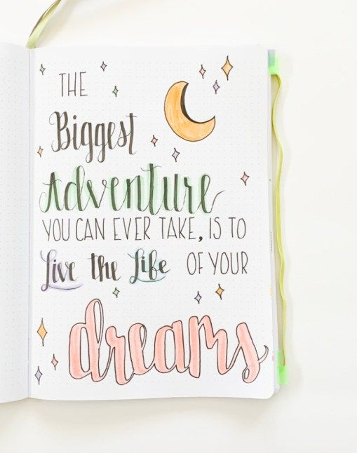 Using Quotes In Your Bullet Journal – Sidereal Life
