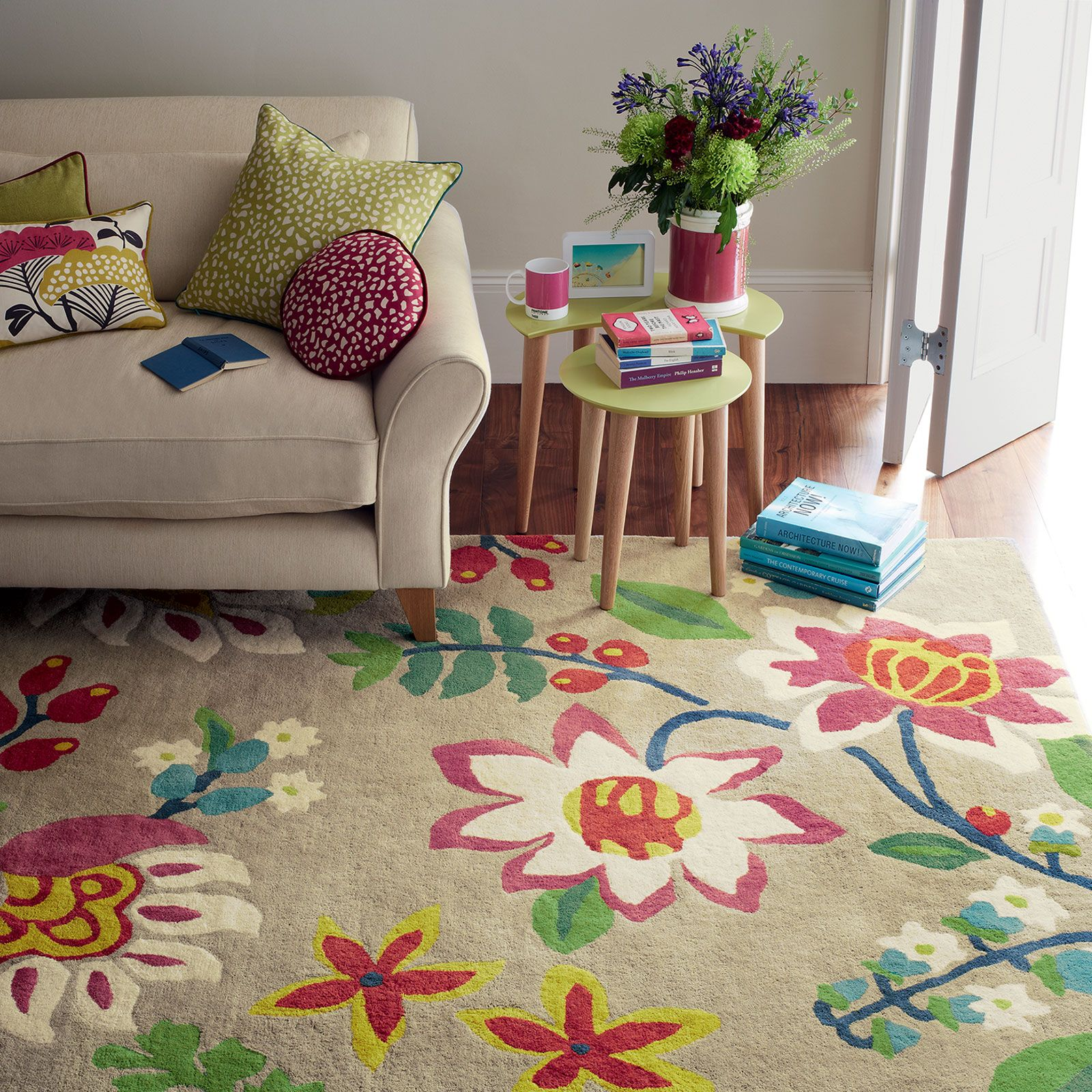 Sanderson Myrtle Rugs Are Handmade In India By Brink And