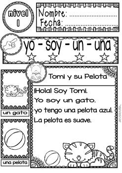 SPANISH READING - GUIDED READING PASSAGES - LEVEL 1 FREE - TeachersPayTeachers.com