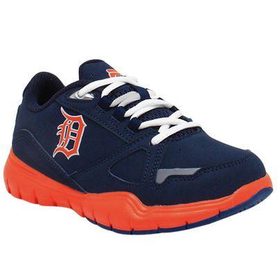 Fila Detroit Tigers Youth Tennis Shoes Navy Blue Detroit  Detroit