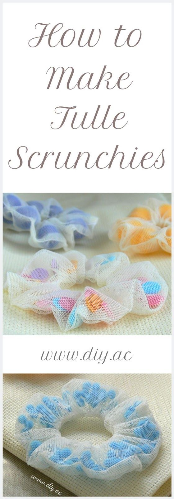 HOW TO SEW TULLE SCRUNCHIES STEP BY STEP - DIY by Anna Craft #scrunchiesdiy