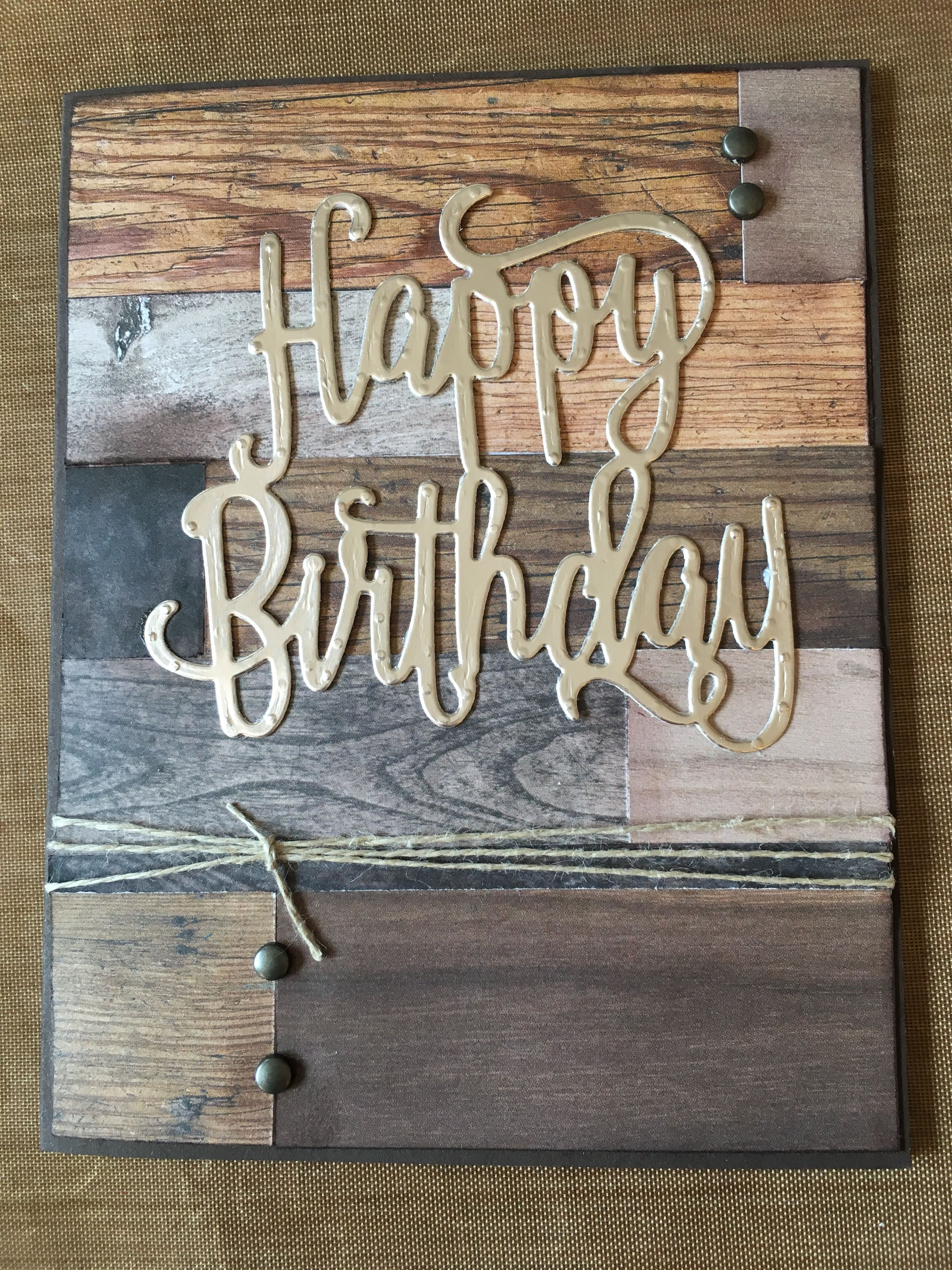 Su happy birthday thinlit and wood textures dsp stack for daves bday man card su happy birthday thinlit and wood textures dsp stack for daves bday bookmarktalkfo Image collections