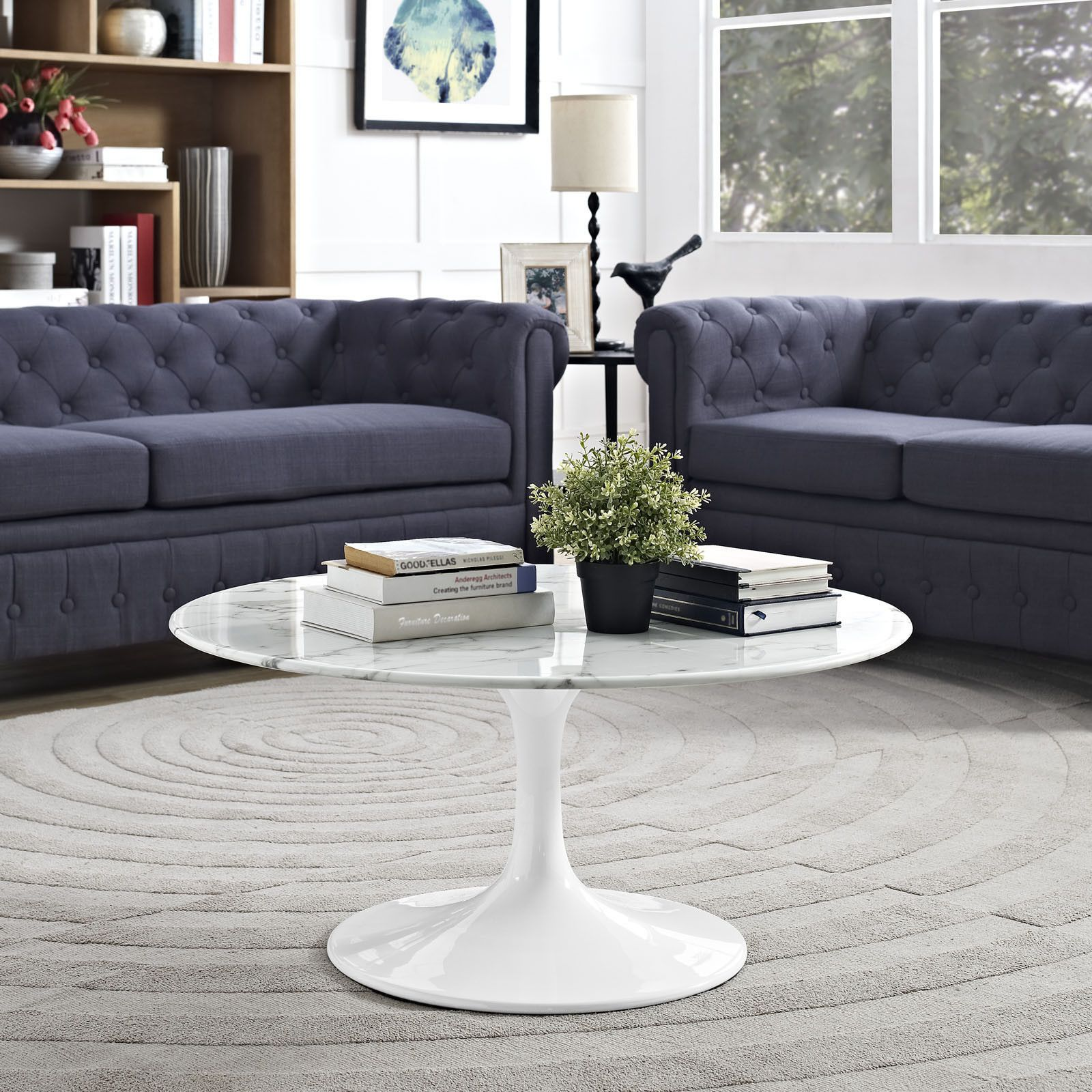 Modway Lippa Coffee Table Coffee Table Modern Furniture Living Room Coffee Table White [ 1600 x 1600 Pixel ]