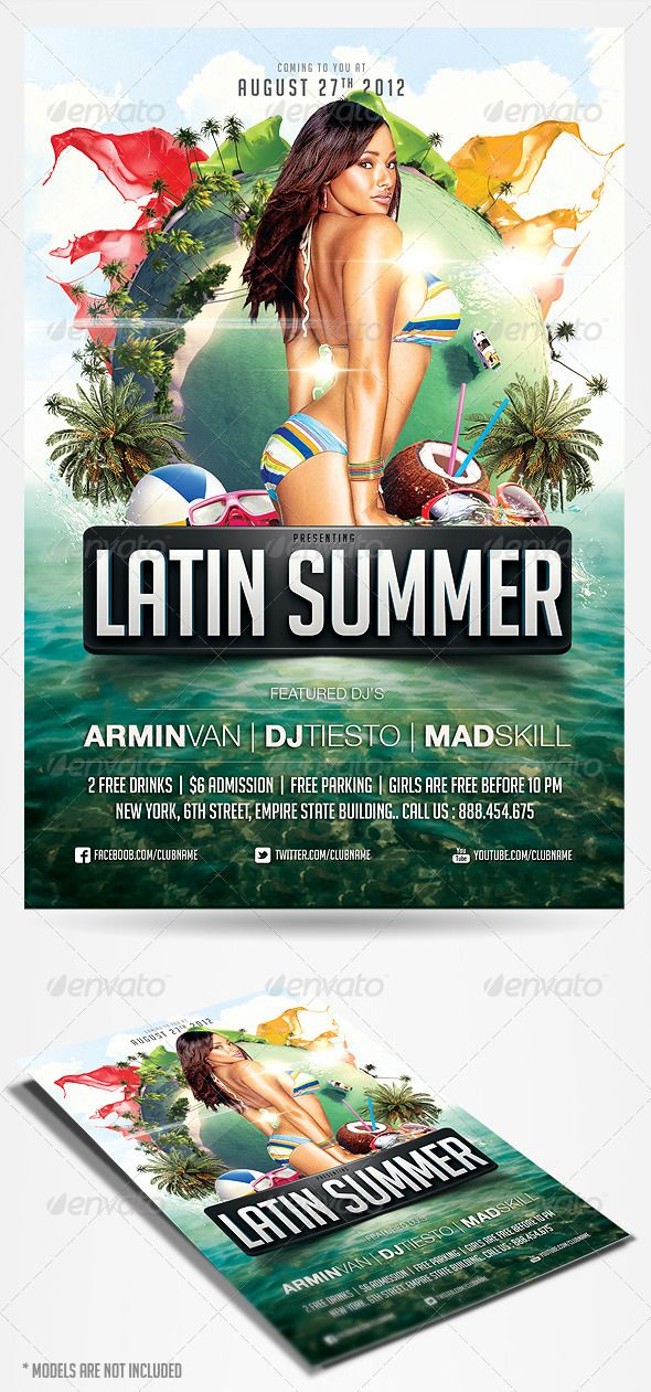 Latin Summer Party Flyer - GraphicRiver Item for Sale My Flyer - party flyer