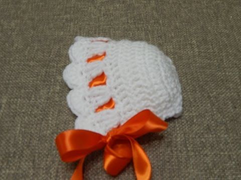 Tutorial Gorro Vintage Bebé Crochet o Ganchillo - YouTube   bace ...