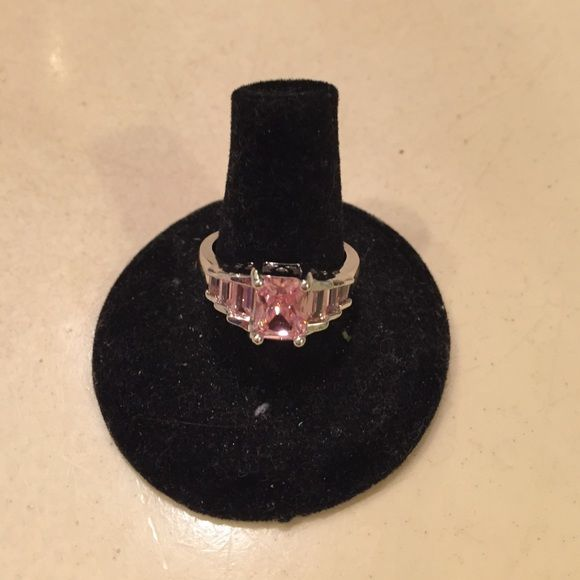 Fab Pink Ice Ring Brand new... Sterling Silver ring with Pink Ice Gemstones... Size 8... Gorgeous... Trade value $30 Jewelry Rings