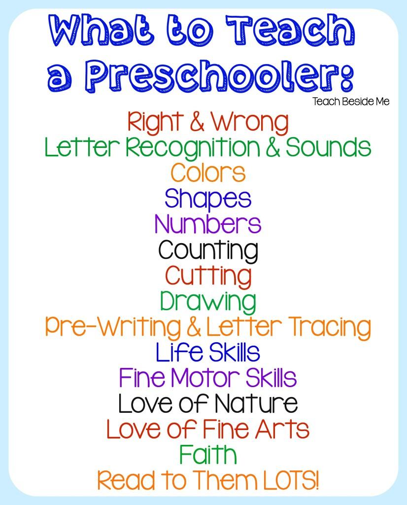 Homeschool Preschool