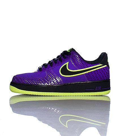 mens nike air force 1 green purple