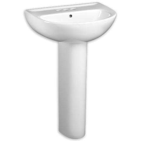 American Standard Evolution 24 Pedestal Sink Comes In 3 Types Of White And Varity Of Faucet Options 206 244 Model Num With Images Pedestal Sink Sink Lavatory Sink