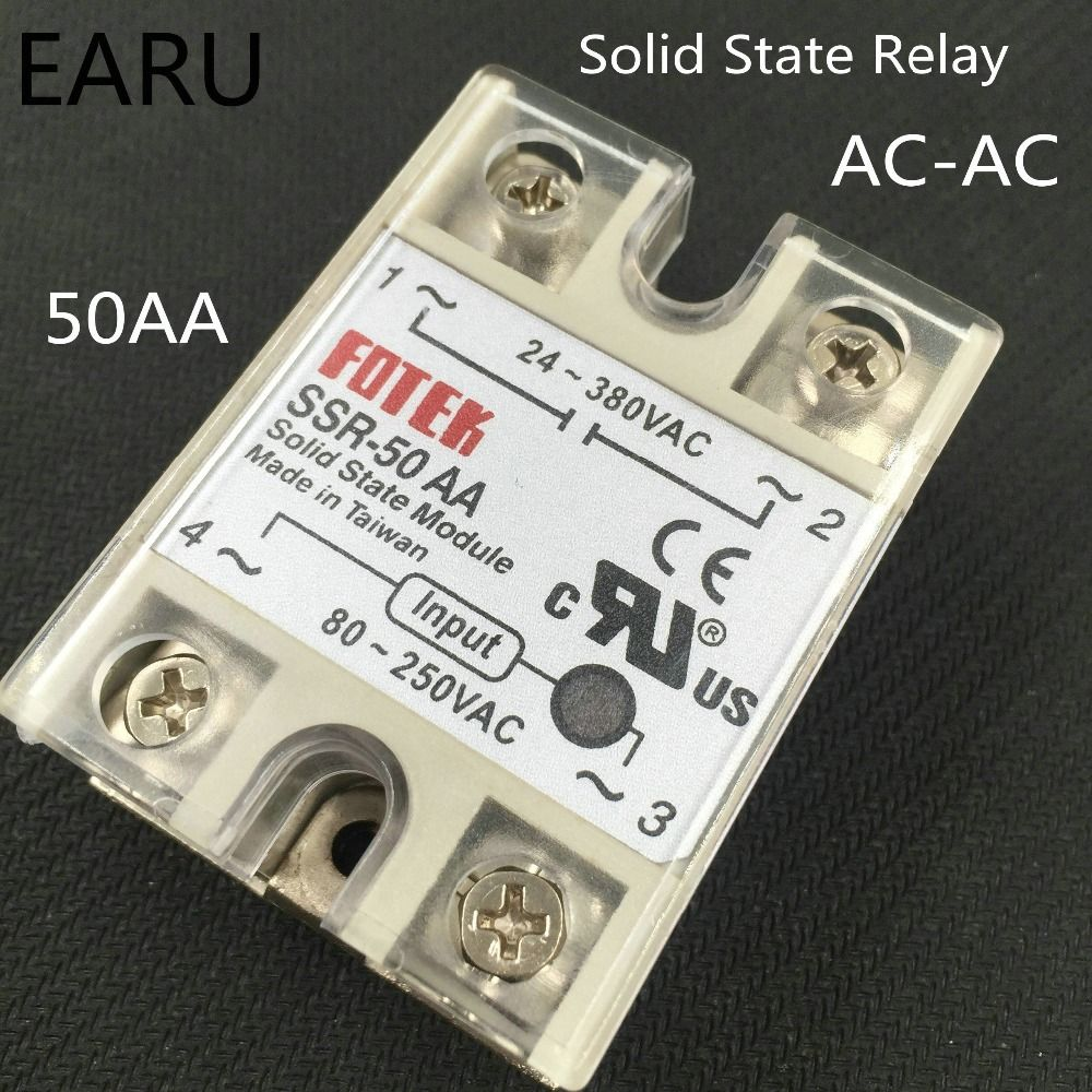 1 Pcs Solid State Relay Ssr 50aa 50a 80 250v Ac To 24 380v For
