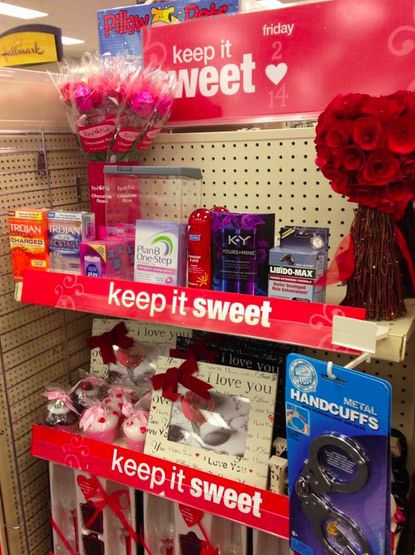 cvs valentine s display keeps it sweet with candy flowers