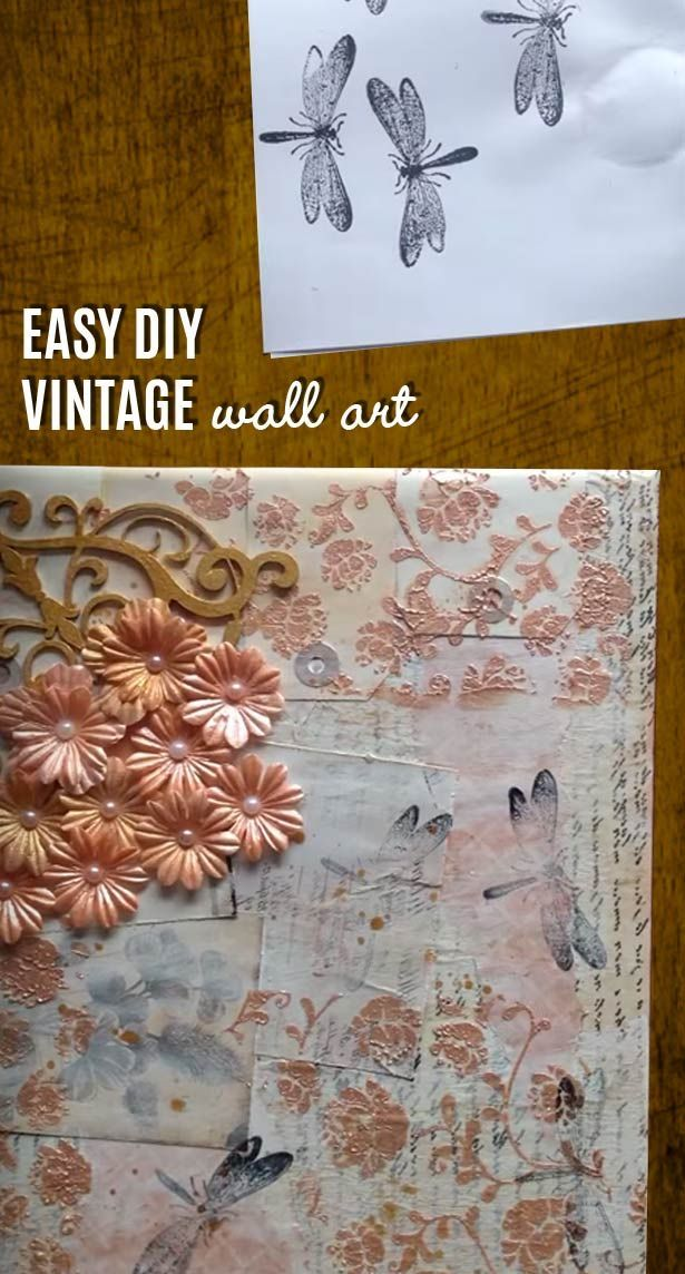 Easy Wall Art Ideas for Rustic Home Decor - Country Crafts Projects I love for Romantic & Vintage Wall Art Made Easy - DIY Mixed Media Canvas | Cheap wall ...