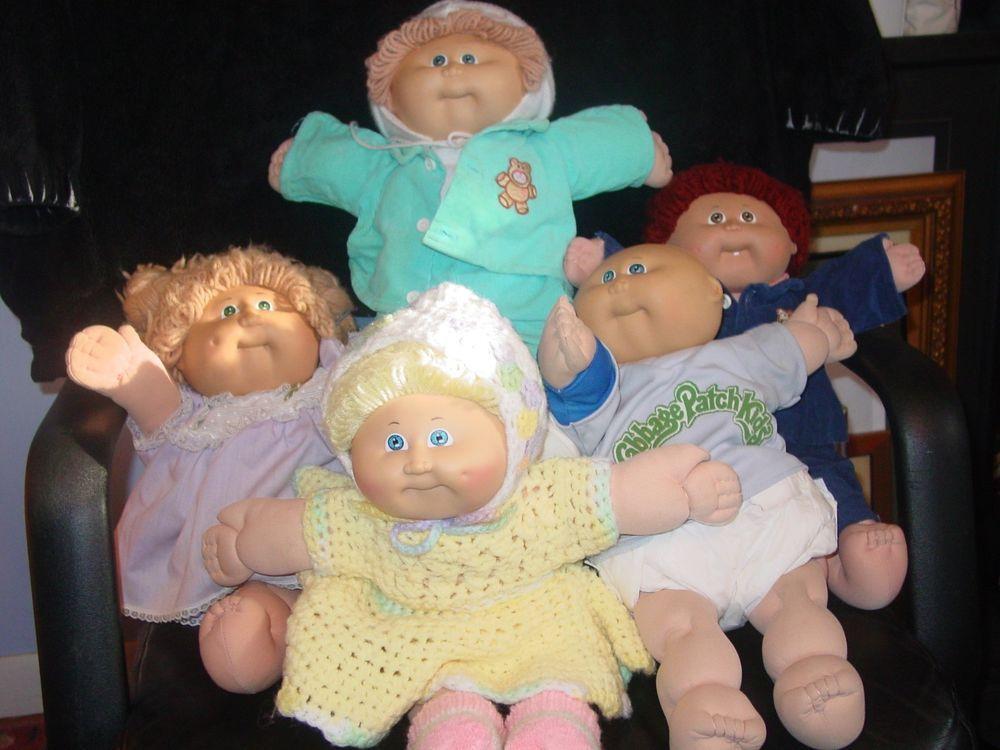 Vintage Cabbage Patch Dolls Lot Of 5 Dolls Cabbagepatchkids Vintage Cabbage Patch Dolls Cabbage Patch Dolls Patch Kids