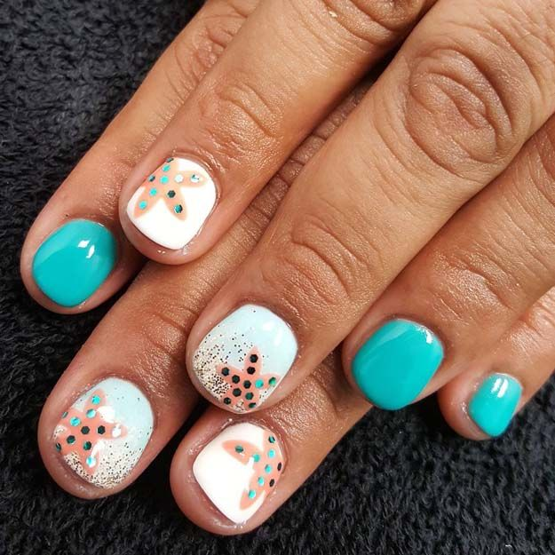 Beach Inspired Nail Art Designs - Beach Inspired Nail Art Designs Beach Fun, Hair Makeup And Makeup