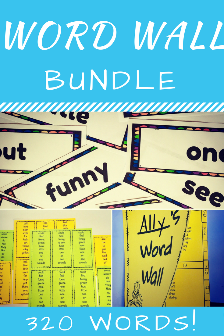 Word Wall Bundle (320 Words Grade 2) | Reading wonders, Classroom ...