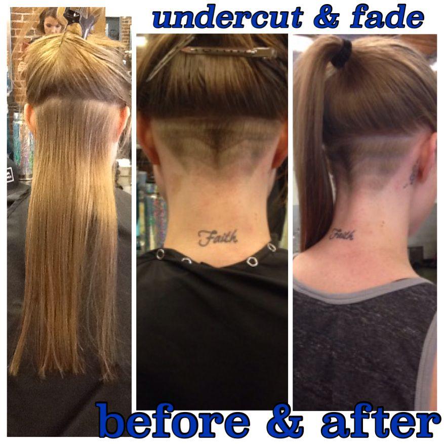 Female with undercut \u0026 fade