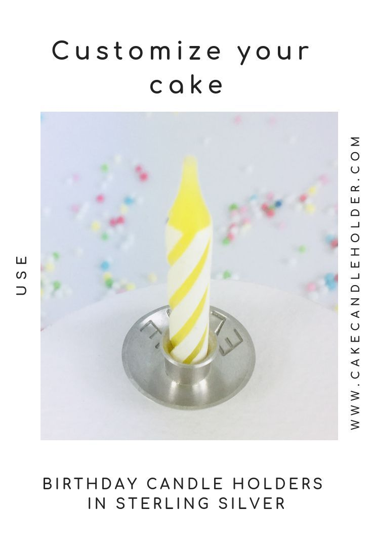 Customized birthday candle holder sterling silver for cake, wedding cake. Hand forged cake topping for baker. Candle cake decoration. #lettercakegeburtstag