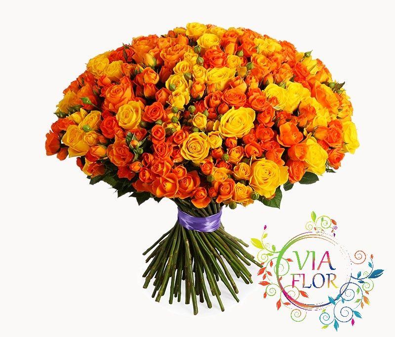 101 роза по оптовой цене купить букет в Харькове - бесплатная доставка | VIAFLOR