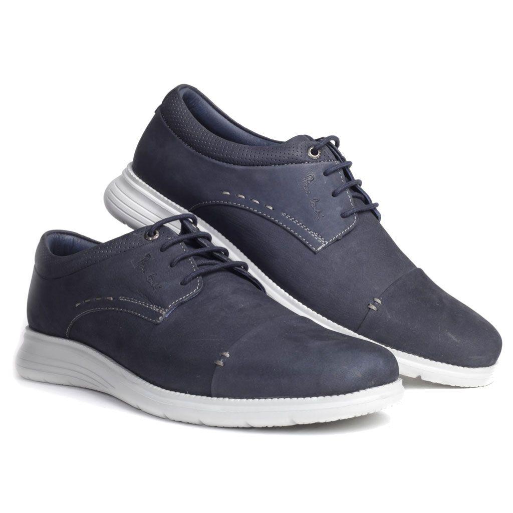 Leather Shoe By Pierre Cardin Pc 3015 Navy Dress Shoes Men Men Shoes Formal Casual Shoes [ 1024 x 1024 Pixel ]