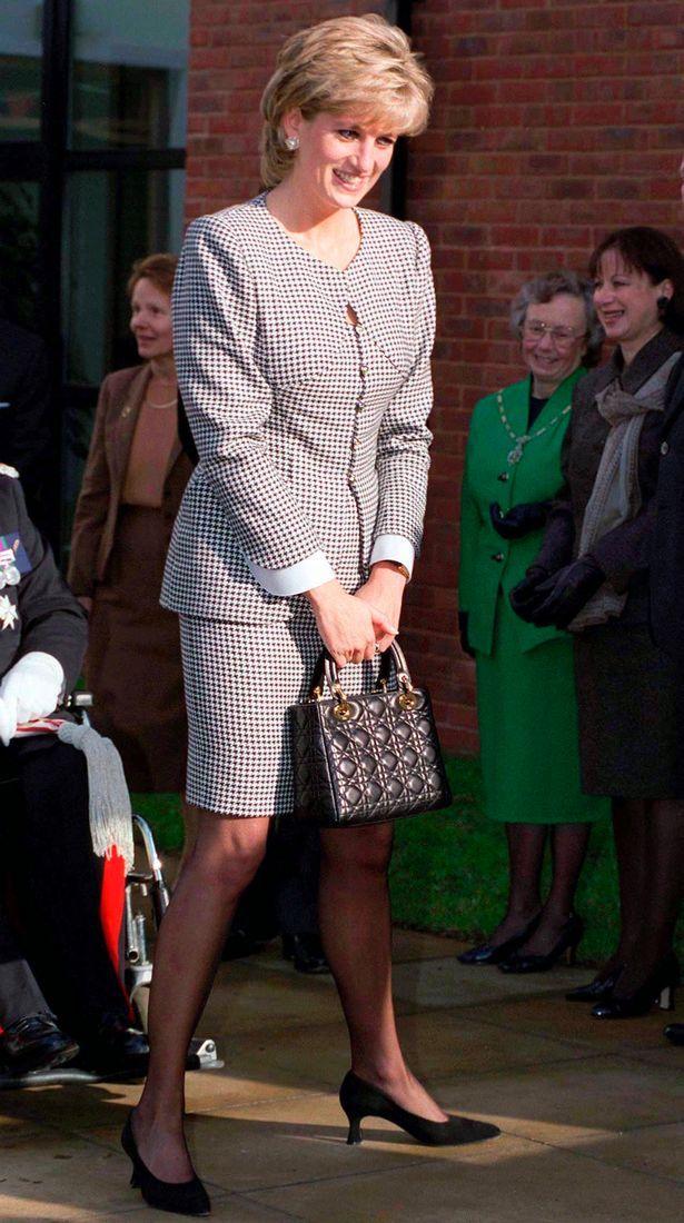 455f9c208245 Princess Diana with her Christian Dior  Lady Dior  Bag.