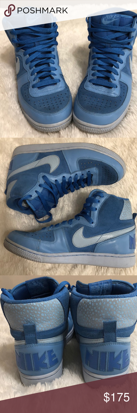 RARE Nike Terminator High in Ice Blue These are men s size 6. I am a ... 6b7dd60091