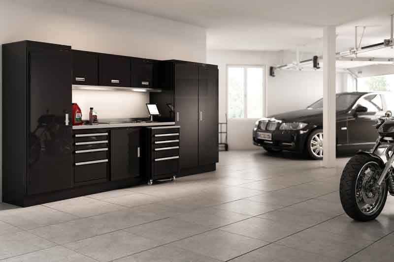 Ordinaire Moduline Select Series Black Garage Cabinets