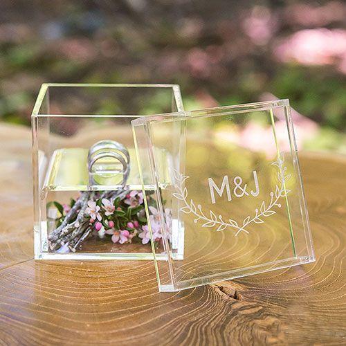 Kartenbox Hochzeit Glas.Ringbox Aus Acryl Alternative Zum Ringkissen Box Mit