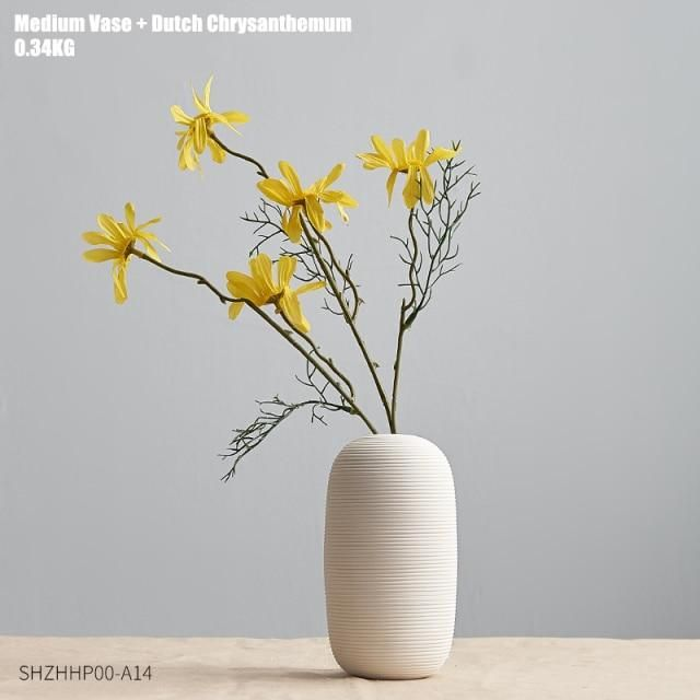 Photo of White Art Ceramic Flower Vase decoration home decor accessories for living room Nordic Classic Dining Room Porcelain tall Vases – Combination 5