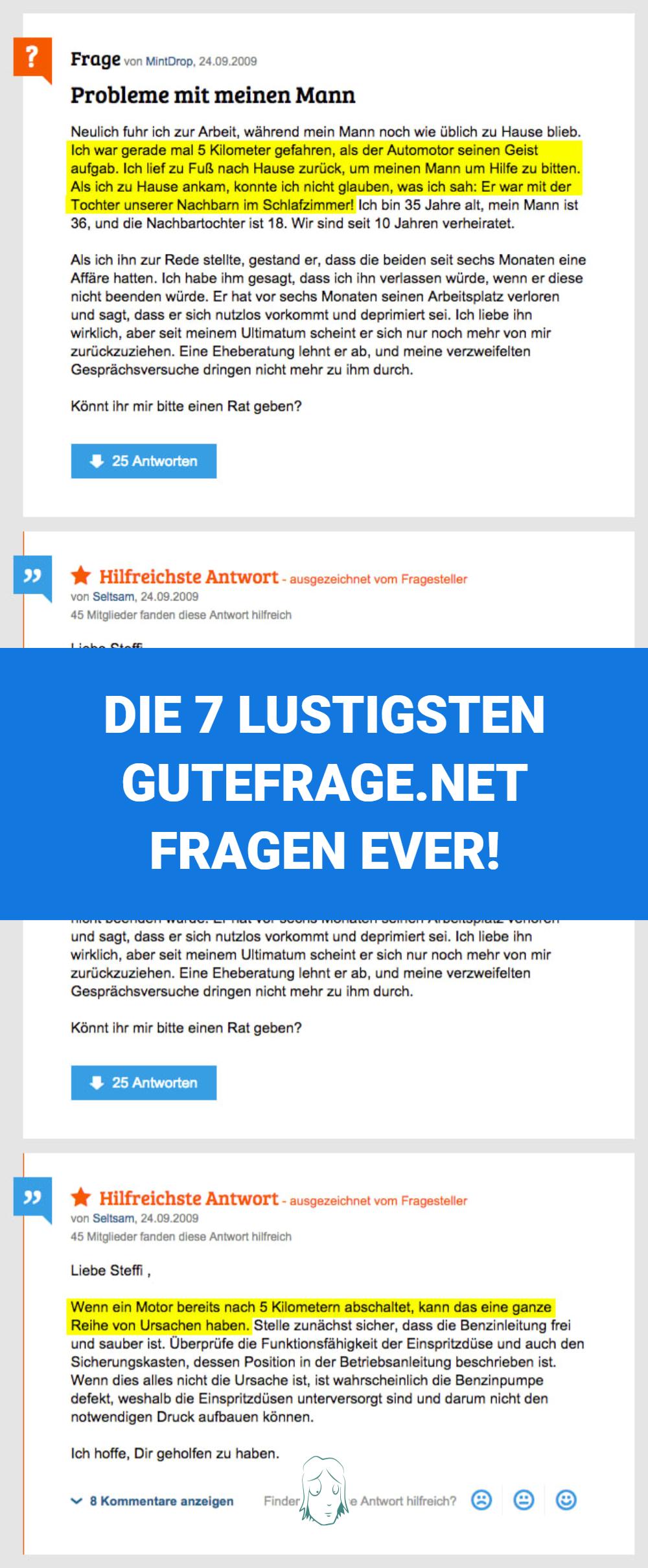 Gutefrage.net: Die lustigsten Fragen und Antworten