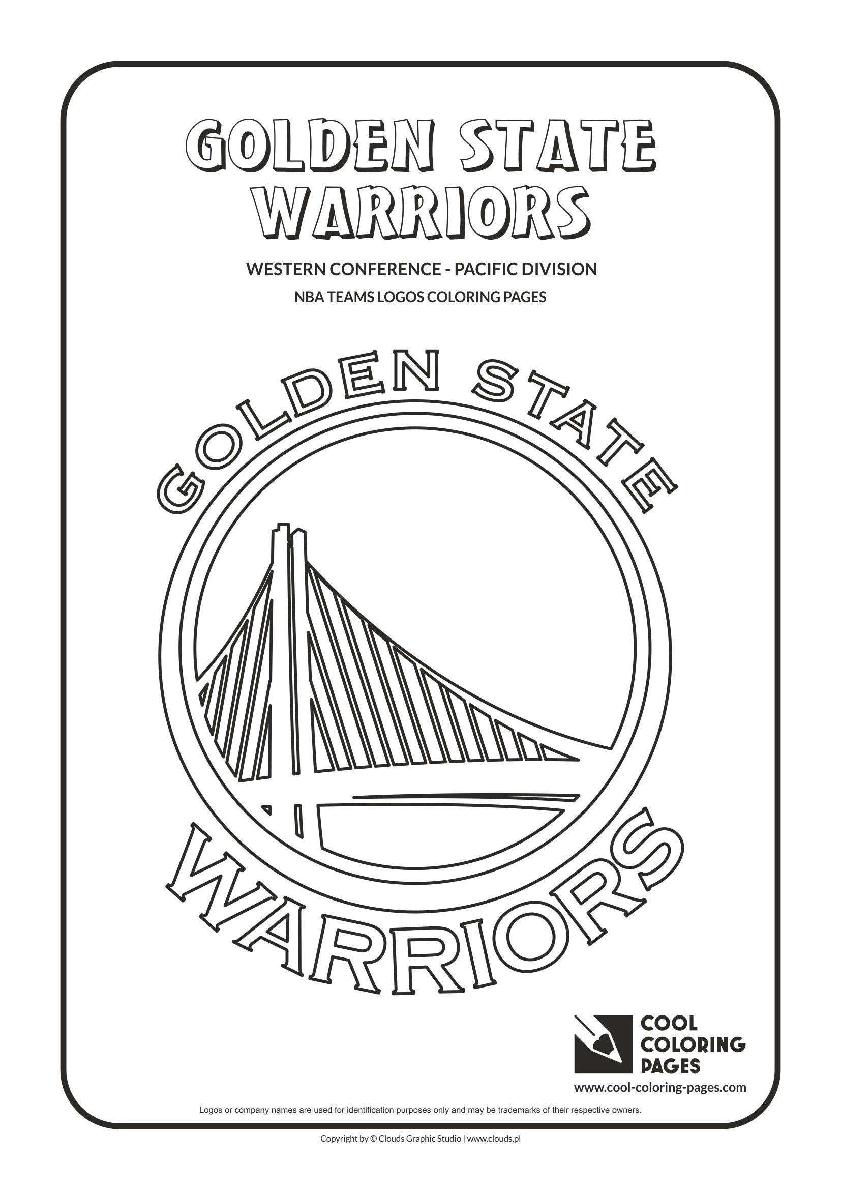 Golden State Warriors Coloring Pages Golden State Warriors Nba Basketball Teams Logos Co In 2020 Golden State Warriors Cool Coloring Pages Golden State Warriors Colors