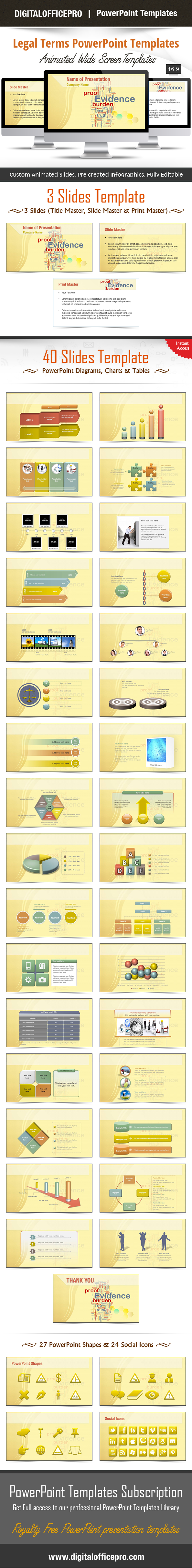 Legal Terms Powerpoint Template Backgrounds