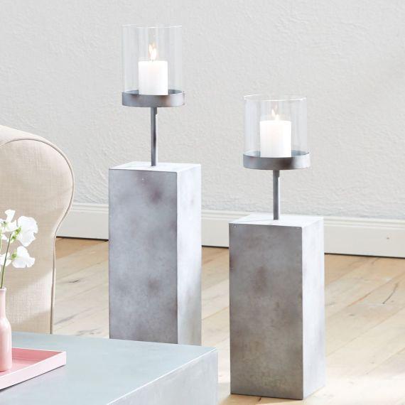 windlicht set beton krimskrams kerzen zement und beton diy. Black Bedroom Furniture Sets. Home Design Ideas