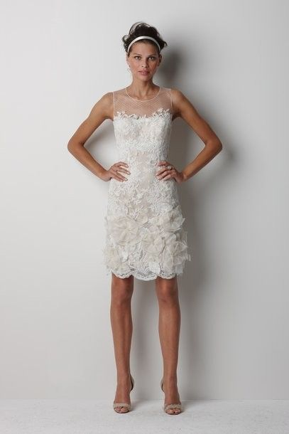 Elegant Short Lace Wedding Dress Beautiful Details Perfect For The Reception Or Ceremony