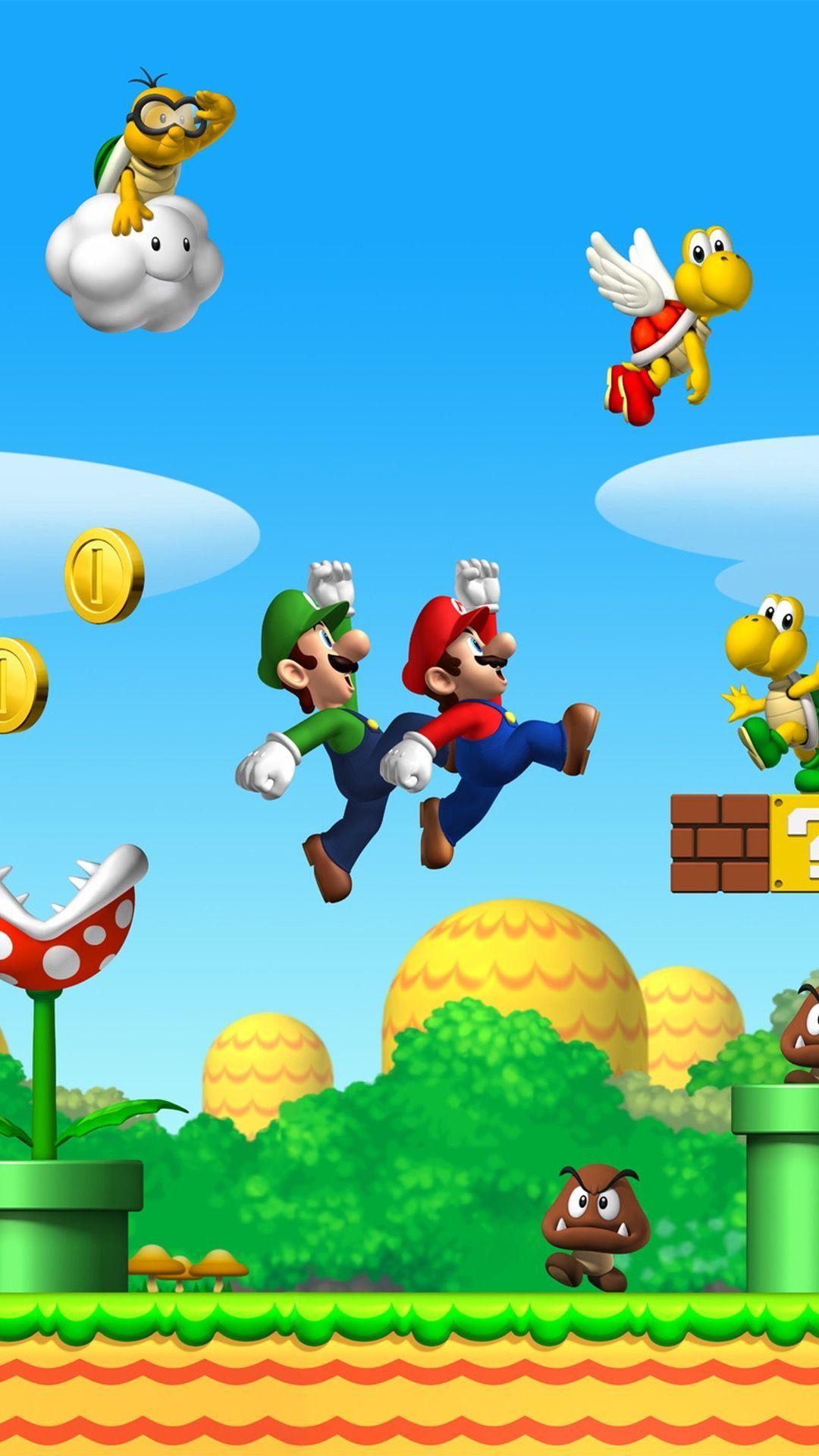 8 Bit Mario Iphone Background Super Mario Art Mario Mario And Luigi