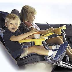 Car Seat Foot Rest And Table Great Idea For Long Trips