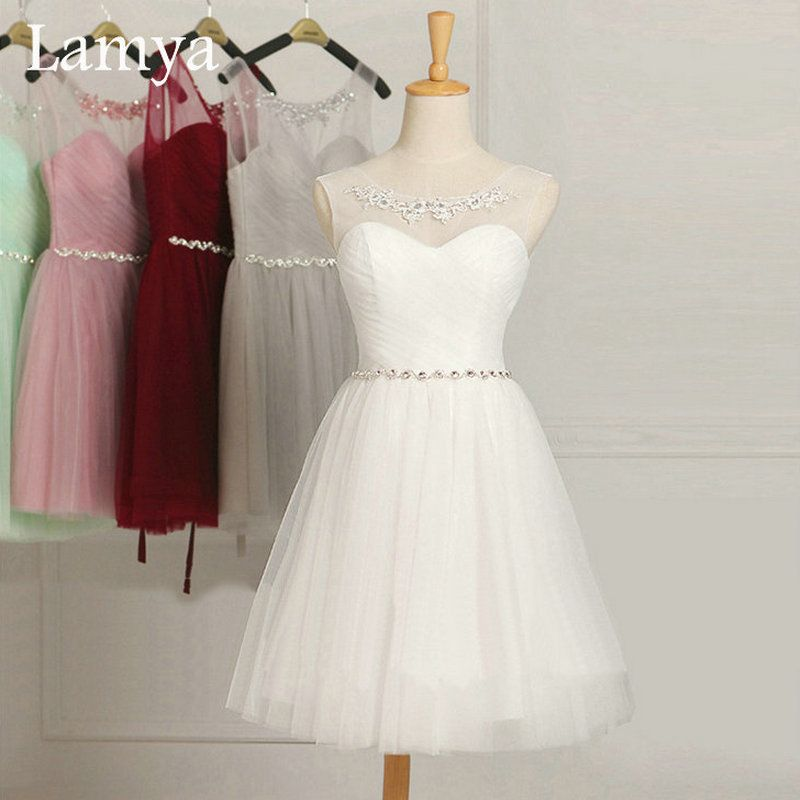 Plus size white dress ukuran
