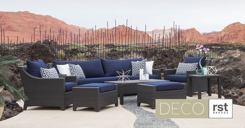 Terrific Deco Outdoor Patio Furniture Collection In Navy Blue Rst Cjindustries Chair Design For Home Cjindustriesco