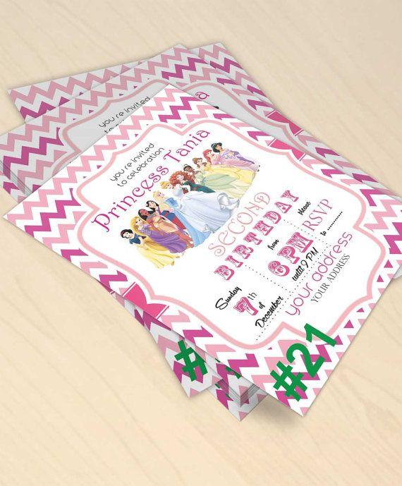 21 disney all princess pink chevron digital by bulustalan on Etsy