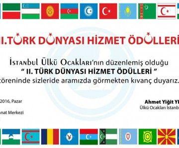 İstanbul Ülkü Ocaklarından 2.Türk Dünyası Hizmet Ödülleri | Haberhan Siyasi Güncel Haber Sitesi
