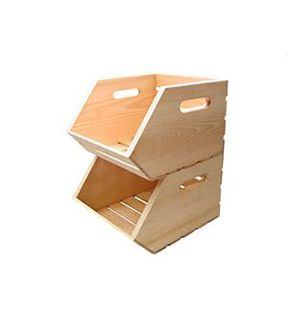 Beau Stackable Wood CrateStackable Wood Crate,