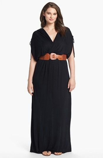 FELICITY & COCO Belted Maxi Dress (Plus Size) (Nordstrom Exclusive ...